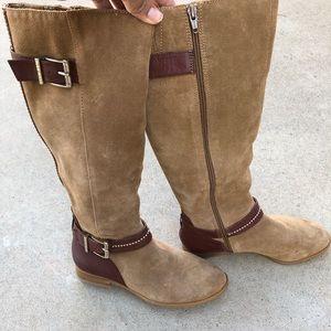 Alex Marie knee high suede zip up boots